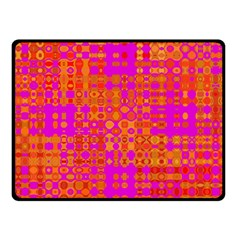 Pink Orange Bright Abstract Fleece Blanket (Small)