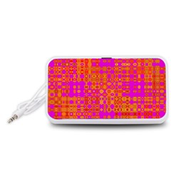 Pink Orange Bright Abstract Portable Speaker (white)