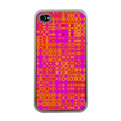 Pink Orange Bright Abstract Apple Iphone 4 Case (clear)