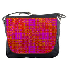 Pink Orange Bright Abstract Messenger Bags