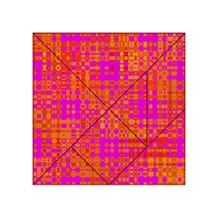 Pink Orange Bright Abstract Acrylic Tangram Puzzle (4  x 4 )