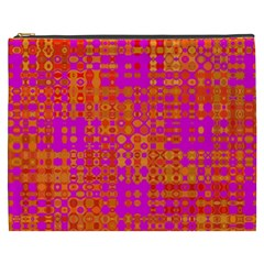 Pink Orange Bright Abstract Cosmetic Bag (xxxl)