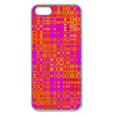 Pink Orange Bright Abstract Apple Seamless iPhone 5 Case (Color)