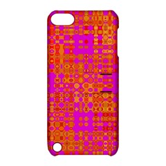 Pink Orange Bright Abstract Apple iPod Touch 5 Hardshell Case with Stand