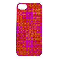 Pink Orange Bright Abstract Apple iPhone 5S/ SE Hardshell Case