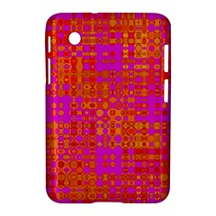 Pink Orange Bright Abstract Samsung Galaxy Tab 2 (7 ) P3100 Hardshell Case