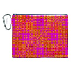 Pink Orange Bright Abstract Canvas Cosmetic Bag (XXL)
