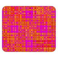 Pink Orange Bright Abstract Double Sided Flano Blanket (Small)