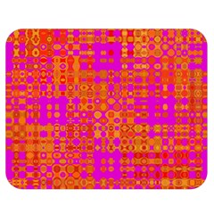Pink Orange Bright Abstract Double Sided Flano Blanket (medium)