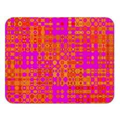 Pink Orange Bright Abstract Double Sided Flano Blanket (large)