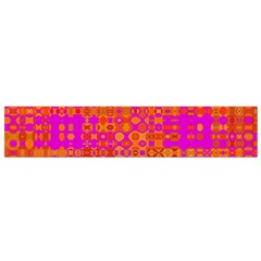 Pink Orange Bright Abstract Flano Scarf (small)