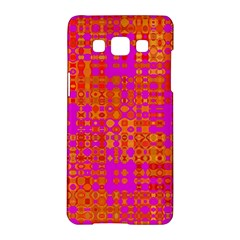 Pink Orange Bright Abstract Samsung Galaxy A5 Hardshell Case