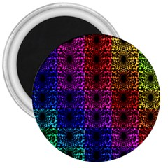 Rainbow Grid Form Abstract 3  Magnets