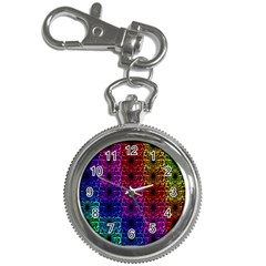 Rainbow Grid Form Abstract Key Chain Watches