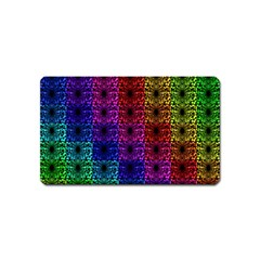 Rainbow Grid Form Abstract Magnet (Name Card)