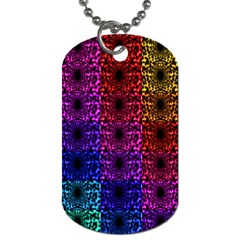 Rainbow Grid Form Abstract Dog Tag (Two Sides)