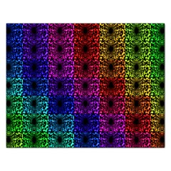 Rainbow Grid Form Abstract Rectangular Jigsaw Puzzl