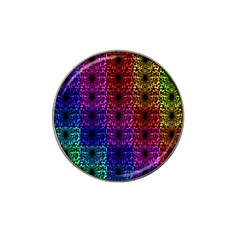 Rainbow Grid Form Abstract Hat Clip Ball Marker