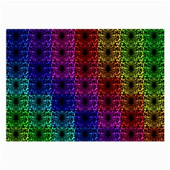 Rainbow Grid Form Abstract Large Glasses Cloth