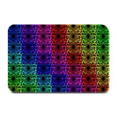 Rainbow Grid Form Abstract Plate Mats