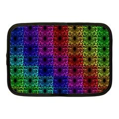 Rainbow Grid Form Abstract Netbook Case (Medium)