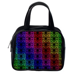 Rainbow Grid Form Abstract Classic Handbags (one Side)