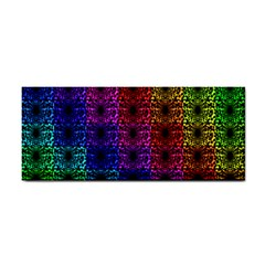 Rainbow Grid Form Abstract Cosmetic Storage Cases