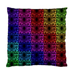 Rainbow Grid Form Abstract Standard Cushion Case (One Side)