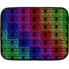 Rainbow Grid Form Abstract Fleece Blanket (mini)