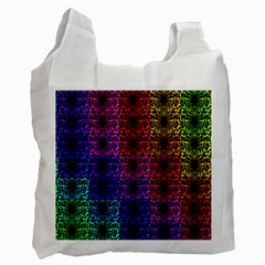 Rainbow Grid Form Abstract Recycle Bag (Two Side)