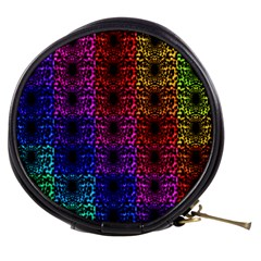 Rainbow Grid Form Abstract Mini Makeup Bags