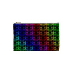 Rainbow Grid Form Abstract Cosmetic Bag (small)