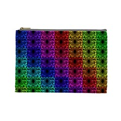 Rainbow Grid Form Abstract Cosmetic Bag (large)
