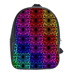 Rainbow Grid Form Abstract School Bags(Large)