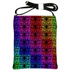 Rainbow Grid Form Abstract Shoulder Sling Bags
