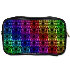 Rainbow Grid Form Abstract Toiletries Bags 2 Side