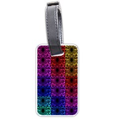 Rainbow Grid Form Abstract Luggage Tags (One Side)