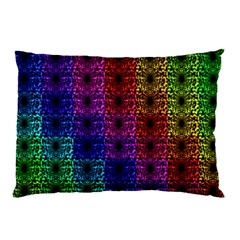 Rainbow Grid Form Abstract Pillow Case (two Sides)