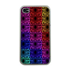 Rainbow Grid Form Abstract Apple iPhone 4 Case (Clear)