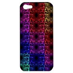 Rainbow Grid Form Abstract Apple Iphone 5 Hardshell Case