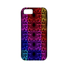 Rainbow Grid Form Abstract Apple iPhone 5 Classic Hardshell Case (PC+Silicone)