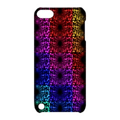 Rainbow Grid Form Abstract Apple Ipod Touch 5 Hardshell Case With Stand