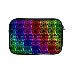 Rainbow Grid Form Abstract Apple Ipad Mini Zipper Cases