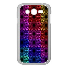 Rainbow Grid Form Abstract Samsung Galaxy Grand DUOS I9082 Case (White)