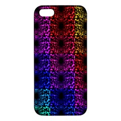 Rainbow Grid Form Abstract iPhone 5S/ SE Premium Hardshell Case