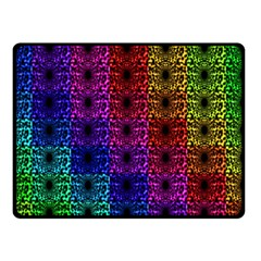 Rainbow Grid Form Abstract Double Sided Fleece Blanket (Small)