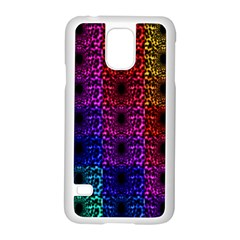 Rainbow Grid Form Abstract Samsung Galaxy S5 Case (white)
