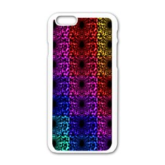 Rainbow Grid Form Abstract Apple Iphone 6/6s White Enamel Case