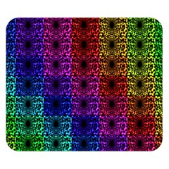 Rainbow Grid Form Abstract Double Sided Flano Blanket (Small)