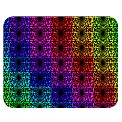 Rainbow Grid Form Abstract Double Sided Flano Blanket (medium)